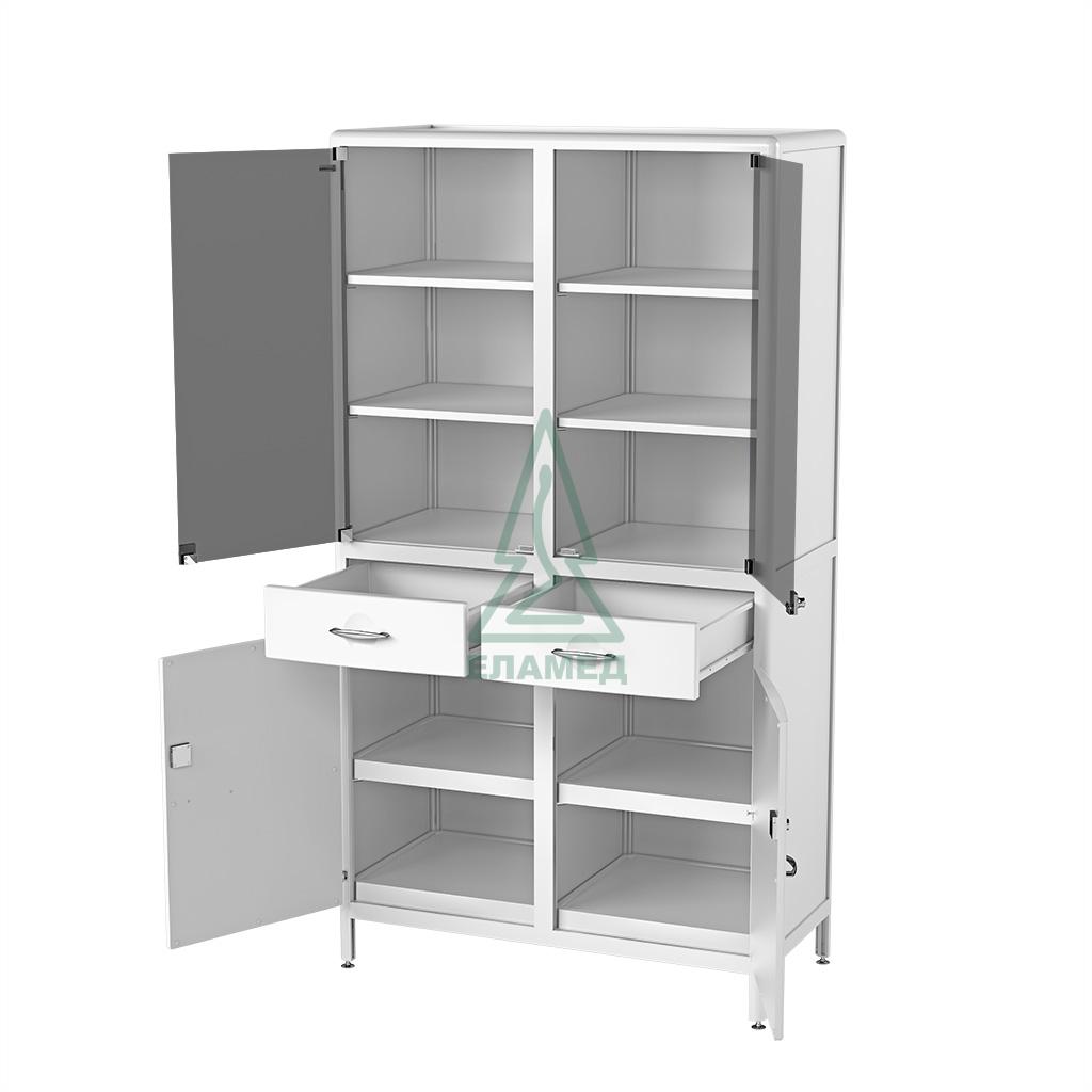 Шкаф медицинский лабораторный, ШМЛ-01-«ЕЛАТ» (С9М-2П), код 435